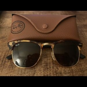 Ray Ban Brown tortoise club masters